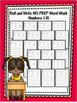 Roll and Write NO PREP Word Work Numbers Bundle 1-20
