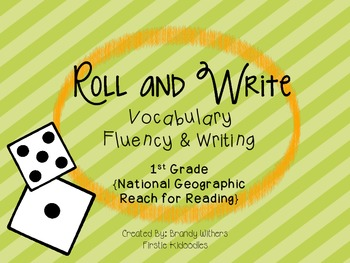 Roll and Write National Geographic Reach for Reading 1st Grade