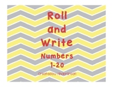 Roll and Write Numbers 1-20