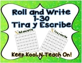 Roll and Write Numbers (Bilingual)
