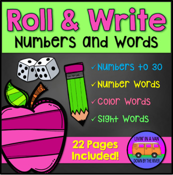 Roll and Write: Numbers and Words