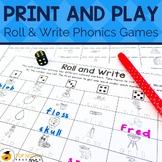 Roll and Write Phonics Game for Beginning Readers and Spel