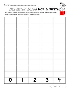 Roll and Write - Practice Writing Numbers