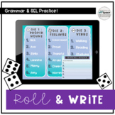 Roll and Write Sentences - Grammar and SEL