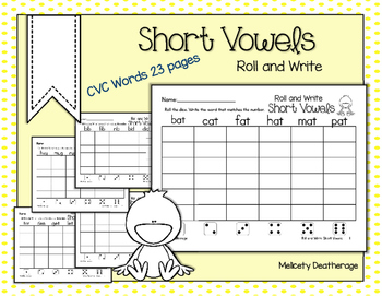 Roll and Write Short Vowels for Literacy Centers