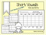 Short Vowel Worksheets for Literacy Centers