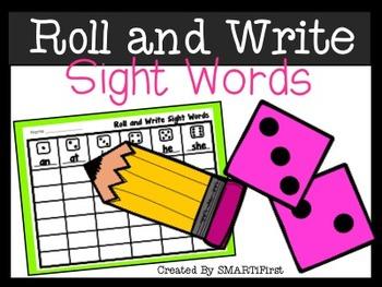 Roll and Write Sight Word Freebie