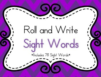 Roll and Write Sight Words