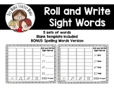 Roll and Write Sight Words Games