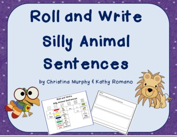 Roll and Write Silly Animal Sentences
