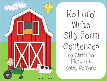 Roll and Write Silly Farm Sentences