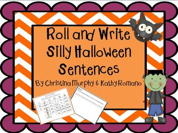 Roll and Write Silly Halloween Sentences