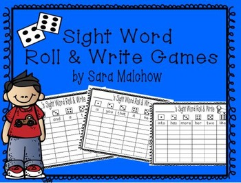 Roll and Write Sitton Words 1-100