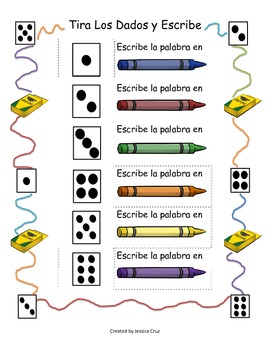 Roll and Write Spanish Version