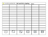 Roll and Write Spelling Words