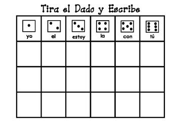 Roll and Write / Tira el Dado y Escribe