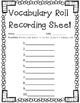 Roll and Write Vocabulary/Spelling Words Center