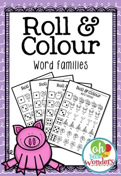 Roll and Colour Word Families