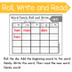 Roll and Write Word Family Practice- Letter E Word Families