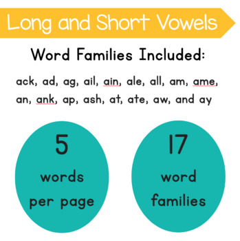 Roll and Write Word Family Practice- Letter A Word Families