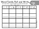 Roll and Write Word Family Practice- Letter I Word Families