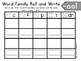 Roll and Write Word Family Practice- Letter O Word Families