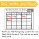 Roll and Write Word Family Practice- Letter U Word Families