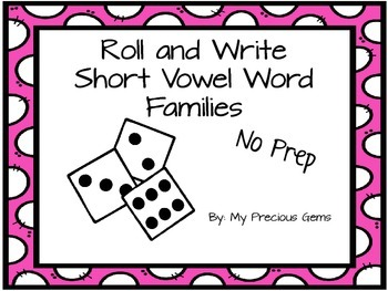 Roll and Write Word Family Sampler