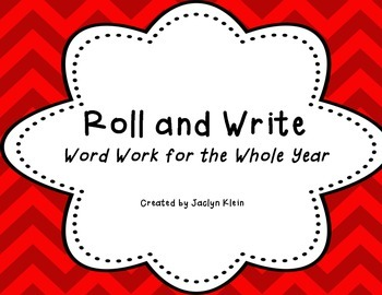 Roll and Write Word Work