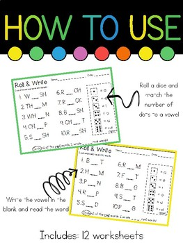 Roll and Write Worksheets