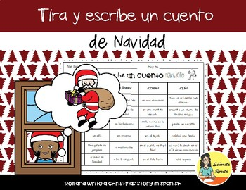 Roll and Write a Christmas Story in Spanish - Tira y escribe un cuento navideño