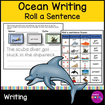 Roll and Write a Sentence Oceans