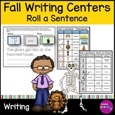 Roll and Write a Sentence Set 4 Back to School, Halloween and Thanksgiving