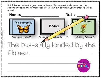 Roll and Write a Sentence or Story Set 3 Idioms, Insects and Ocean