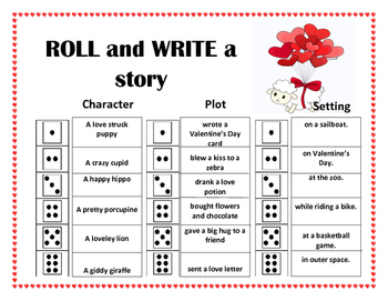 Roll and Write a Story- February / Valentines Day