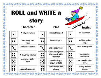 Roll and Write a Story- January / Winter