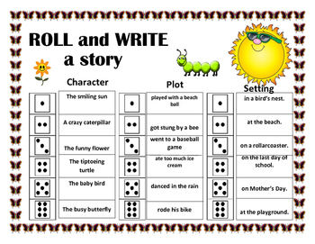 Roll and Write a Story- May / Summer