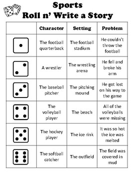 Roll and Write a Story Starter