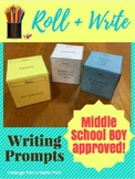 Roll + Write | Story Starter | Writing Prompts | Middle School