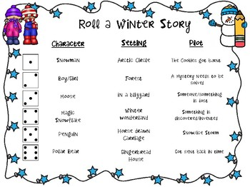 Roll and Write Winter Stories
