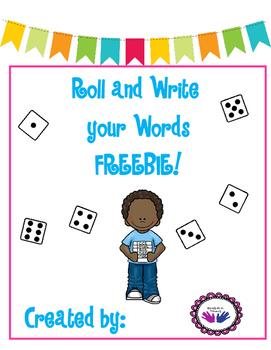 Roll and Write a Word FREEBIE!