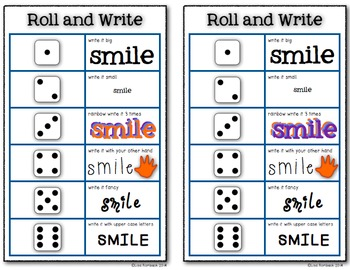Roll and Write a game to practice spelling FREEBIE