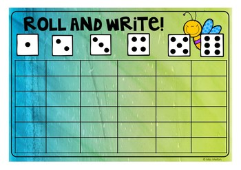 Roll and Write colourful freebie!
