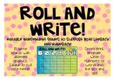Roll and Write colourful freebie!
