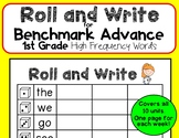 Roll and Write for Benchmark Advance 1st Grade High Freque