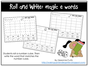 Roll and Write: magic e words