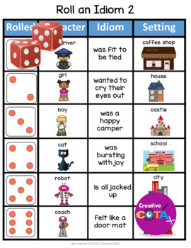 Roll and Write sentence Idiom Bundle