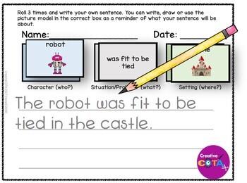 Roll and Write sentence Idiom Set