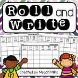 Roll and Write: short vowels, long vowels, vowel pairs, and r- controlled vowels