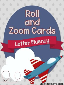 Roll and Zoom Letter Fluency Cards